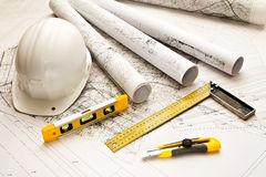 Blueprint, Work Tool Stock Photos