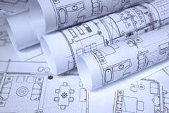 blueprints домашний офис стоковое фото