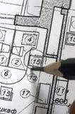 blueprints коррекция Стоковое Изображение RF