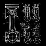 blueprints поршени Стоковые Изображения