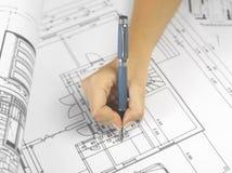 blueprints серия Стоковая Фотография RF