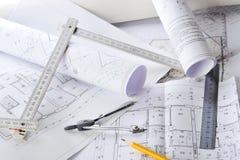 blueprints чертежи Стоковое Изображение