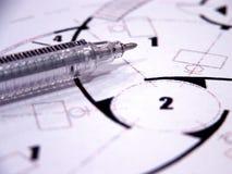 blueprints крупный план Стоковые Изображения