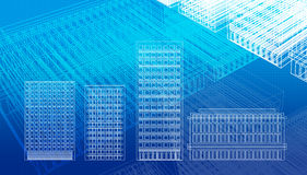 Blueprints. Of buildings and architecture Royalty Free Stock Images