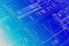 Blueprints. Blueprint with a gradient background Stock Images