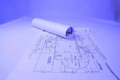 Blueprints. House plans, concept of home architecture Stock Photo