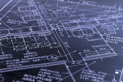 Blueprints. House interior design,concept of home architecture Royalty Free Stock Image