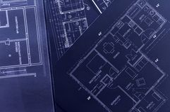 Blueprints Royalty Free Stock Photography