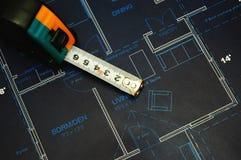 Blueprints. House interior design,concept of home architecture Stock Photos