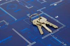 Blueprints. House interior design,concept of home architecture Stock Photo