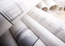 Blueprints Royalty Free Stock Photos