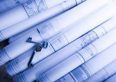 Blueprints Stock Image