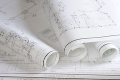 Blueprints Stock Image