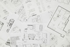 Blueprints. Of apartments, houses buildings Stock Image