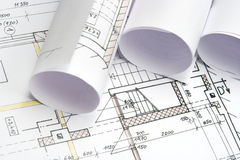 Blueprints of architecture Royalty Free Stock Image