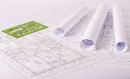 Blueprints Royalty Free Stock Photos