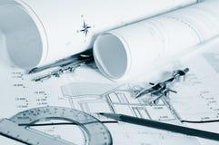 Blueprints Architekturzeichnungen lizenzfreie stockfotografie
