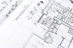 Blueprints background Stock Photos