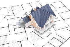 Blueprints and house Stock Images