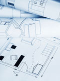 Blueprints house stock images