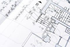 Blueprints la priorità bassa Fotografie Stock