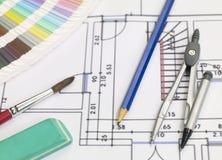 Blueprints la serie fotografia stock libera da diritti