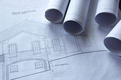Free Blueprints Of A House Royalty Free Stock Photo - 2014345