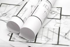 Free Blueprints Of Architecture Stock Image - 8123841