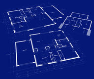 Blueprints for a residential development Royalty Free Stock Images