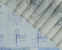 Blueprints Rolls Stock Images