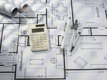 Blueprints a série Foto de Stock