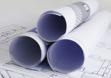 Blueprints a série Fotos de Stock