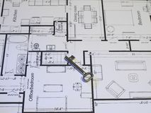 Blueprints a série Fotografia de Stock Royalty Free