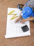 Blueprints a série Foto de Stock Royalty Free