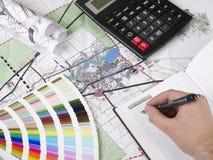 Blueprints a série Imagens de Stock Royalty Free