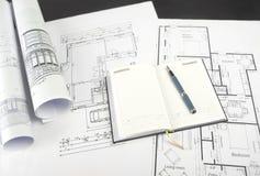 Blueprints a série Fotografia de Stock