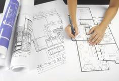 Blueprints a série Imagens de Stock