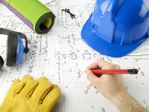 Blueprints a série Imagem de Stock