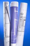 Blueprints Serie lizenzfreies stockbild