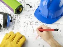 Blueprints series Stock Image