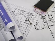 Blueprints series Royalty Free Stock Images