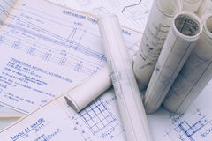 Blueprints Royalty Free Stock Photo