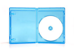 Blueray case box. Blueray case plastic box on white isolate royalty free stock photo
