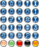 Blueroundbuttons Stockbild