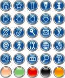 Blueroundbuttons Stock Image