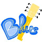 Blues. An illustration of Blues music Stock Images