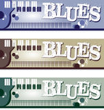 Blues Banners. Set of Blues web Banners Royalty Free Stock Photography