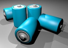 Blues batteries Stock Photo