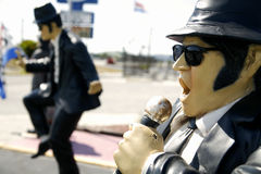 Blues Brother. Statue of a blues brother singing Stock Photography
