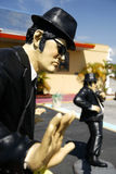 Blues Brother Statue. Statue of a blues brother dancing Stock Image